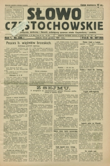 Słowo Częstochowskie : dziennik polityczny, społeczny i literacki, poświęcony sprawom miasta Częstochowy i powiatu. R.1, nr 226 (12 grudnia 1931)