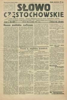 Słowo Częstochowskie : dziennik polityczny, społeczny i literacki, poświęcony sprawom miasta Częstochowy i powiatu. R.1, nr 237 (29 grudnia 1931)
