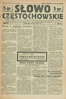 Słowo Częstochowskie : dziennik polityczny, społeczny i literacki, poświęcony sprawom miasta Częstochowy i powiatu. R.2, nr 5 (8 stycznia 1932)