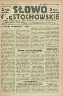 Słowo Częstochowskie : dziennik polityczny, społeczny i literacki, poświęcony sprawom miasta Częstochowy i powiatu. R.2, nr 9 (13 stycznia 1932)