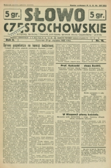 Słowo Częstochowskie : dziennik polityczny, społeczny i literacki, poświęcony sprawom miasta Częstochowy i powiatu. R.2, nr 16 (21 stycznia 1932)