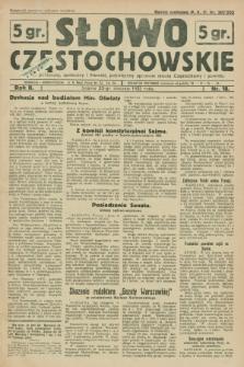 Słowo Częstochowskie : dziennik polityczny, społeczny i literacki, poświęcony sprawom miasta Częstochowy i powiatu. R.2, nr 18 (23 stycznia 1932)