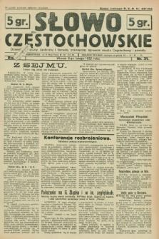 Słowo Częstochowskie : dziennik polityczny, społeczny i literacki, poświęcony sprawom miasta Częstochowy i powiatu. R.2, nr 31 (9 lutego 1932)