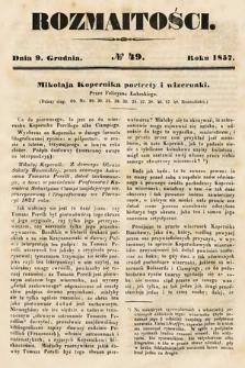 Rozmaitości : pismo dodatkowe do Gazety Lwowskiej. 1857, nr49
