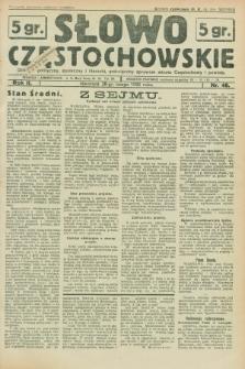 Słowo Częstochowskie : dziennik polityczny, społeczny i literacki, poświęcony sprawom miasta Częstochowy i powiatu. R.2, nr 48 (28 lutego 1932)