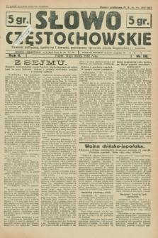 Słowo Częstochowskie : dziennik polityczny, społeczny i literacki, poświęcony sprawom miasta Częstochowy i powiatu. R.2, nr 58 (11 marca 1932)