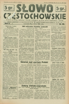 Słowo Częstochowskie : dziennik polityczny, społeczny i literacki, poświęcony sprawom miasta Częstochowy i powiatu. R.2, nr 69 (24 marca 1932)