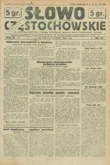 Słowo Częstochowskie : dziennik polityczny, społeczny i literacki, poświęcony sprawom miasta Częstochowy i powiatu. R.2, nr 91 (21 kwietnia 1932)