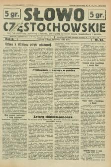 Słowo Częstochowskie : dziennik polityczny, społeczny i literacki, poświęcony sprawom miasta Częstochowy i powiatu. R.2, nr 93 (23 kwietnia 1932)