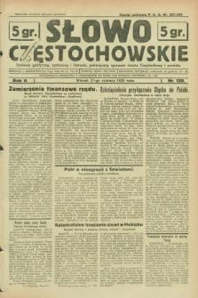 Słowo Częstochowskie : dziennik polityczny, społeczny i literacki, poświęcony sprawom miasta Częstochowy i powiatu. R.2, nr 139 (21 czerwca 1932)