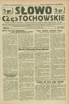 Słowo Częstochowskie : dziennik polityczny, społeczny i literacki, poświęcony sprawom miasta Częstochowy i powiatu. R.2, nr 169 (27 lipca 1932)