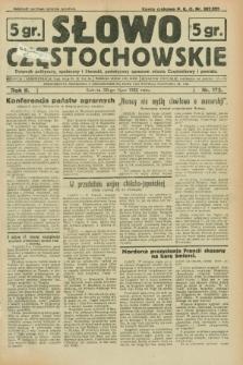Słowo Częstochowskie : dziennik polityczny, społeczny i literacki, poświęcony sprawom miasta Częstochowy i powiatu. R.2, nr 172 (30 lipca 1932)