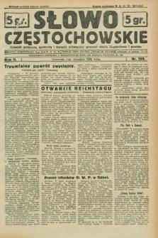 Słowo Częstochowskie : dziennik polityczny, społeczny i literacki, poświęcony sprawom miasta Częstochowy i powiatu. R.2, nr 199 (1 września 1932)