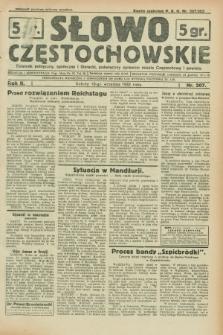 Słowo Częstochowskie : dziennik polityczny, społeczny i literacki, poświęcony sprawom miasta Częstochowy i powiatu. R.2, nr 207 (10 września 1932)