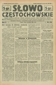 Słowo Częstochowskie : dziennik polityczny, społeczny i literacki, poświęcony sprawom miasta Częstochowy i powiatu. R.2, nr 212 (16 września 1932)