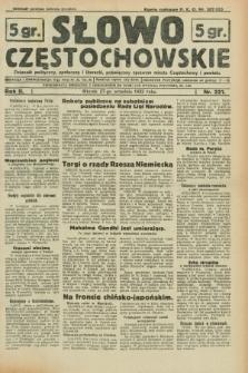 Słowo Częstochowskie : dziennik polityczny, społeczny i literacki, poświęcony sprawom miasta Częstochowy i powiatu. R.2, nr 221 (27 września 1932)