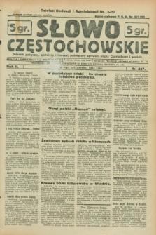 Słowo Częstochowskie : dziennik polityczny, społeczny i literacki, poświęcony sprawom miasta Częstochowy i powiatu. R.2, nr 227 (4 października 1932)