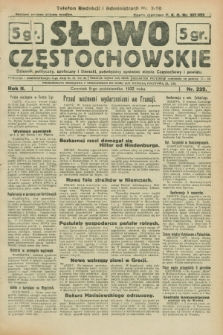 Słowo Częstochowskie : dziennik polityczny, społeczny i literacki, poświęcony sprawom miasta Częstochowy i powiatu. R.2, nr 229 (6 października 1932)