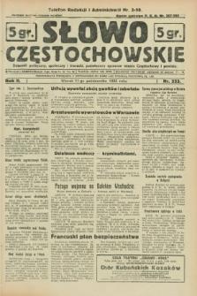 Słowo Częstochowskie : dziennik polityczny, społeczny i literacki, poświęcony sprawom miasta Częstochowy i powiatu. R.2, nr 233 (11 października 1932)