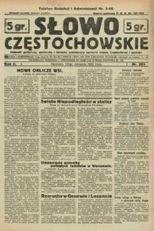 Słowo Częstochowskie : dziennik polityczny, społeczny i literacki, poświęcony sprawom miasta Częstochowy i powiatu. R.2, nr 261 (13 listopada 1932)
