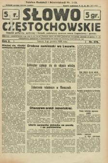 Słowo Częstochowskie : dziennik polityczny, społeczny i literacki, poświęcony sprawom miasta Częstochowy i powiatu. R.2, nr 278 (3 grudnia 1932)