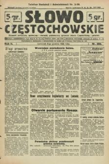 Słowo Częstochowskie : dziennik polityczny, społeczny i literacki, poświęcony sprawom miasta Częstochowy i powiatu. R.2, nr 282 (8 grudnia 1932)