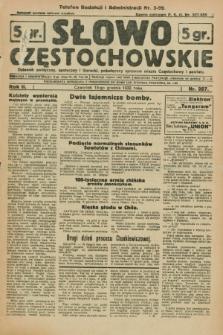 Słowo Częstochowskie : dziennik polityczny, społeczny i literacki, poświęcony sprawom miasta Częstochowy i powiatu. R.2, nr 287 (15 grudnia 1932)