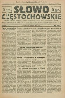 Słowo Częstochowskie : dziennik polityczny, społeczny i literacki, poświęcony sprawom miasta Częstochowy i powiatu. R.2, nr 292 (21 grudnia 1932)