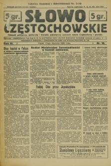 Słowo Częstochowskie : dziennik polityczny, społeczny i literacki, poświęcony sprawom miasta Częstochowy i powiatu. R.3, nr 10 (13 stycznia 1933)