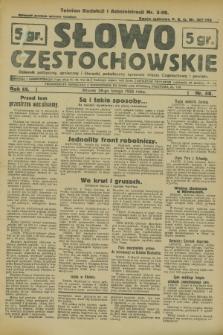 Słowo Częstochowskie : dziennik polityczny, społeczny i literacki, poświęcony sprawom miasta Częstochowy i powiatu. R.3, nr 48 (28 lutego 1933)