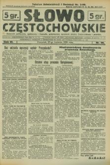 Słowo Częstochowskie : dziennik polityczny, społeczny i literacki, poświęcony sprawom miasta Częstochowy i powiatu. R.3, nr 96 (27 kwietnia 1933)