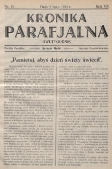 Kronika Parafjalna : dwutygodnik. 1934, nr13