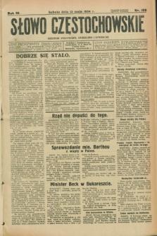 Słowo Częstochowskie : dziennik polityczny, społeczny i literacki. R.4, nr 106 (12 maja 1934)