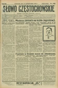 Słowo Częstochowskie : dziennik polityczny, społeczny i literacki. R.4, nr 232 (11 października 1934)