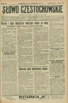 Słowo Częstochowskie : dziennik polityczny, społeczny i literacki. R.4, nr 255 (8 listopada 1934)