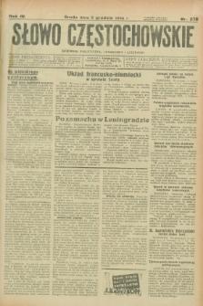 Słowo Częstochowskie : dziennik polityczny, społeczny i literacki. R.4, nr 278 (5 grudnia 1934)
