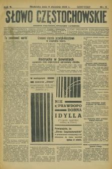 Słowo Częstochowskie : dziennik polityczny, społeczny i literacki. R.5, nr 5 (6 stycznia 1935)