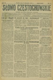 Słowo Częstochowskie : dziennik polityczny, społeczny i literacki. R.5, nr 7 (9 stycznia 1935)
