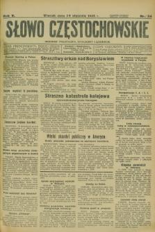 Słowo Częstochowskie : dziennik polityczny, społeczny i literacki. R.5, nr 24 (29 stycznia 1935)