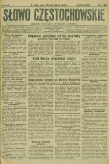 Słowo Częstochowskie : dziennik polityczny, społeczny i literacki. R.5, nr 25 (30 stycznia 1935)