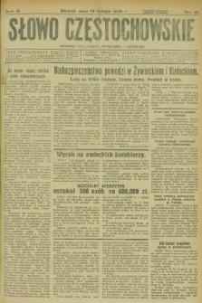 Słowo Częstochowskie : dziennik polityczny, społeczny i literacki. R.5, nr 41 (19 lutego 1935)