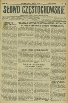 Słowo Częstochowskie : dziennik polityczny, społeczny i literacki. R.5, nr 51 (2 marca 1935)