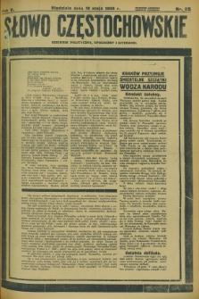Słowo Częstochowskie : dziennik polityczny, społeczny i literacki. R.5, nr 115 (19 maja 1935)