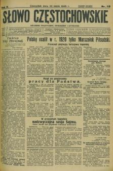 Słowo Częstochowskie : dziennik polityczny, społeczny i literacki. R.5, nr 118 (23 maja 1935)
