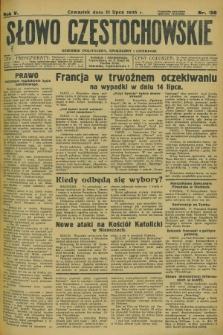 Słowo Częstochowskie : dziennik polityczny, społeczny i literacki. R.5, nr 156 (11 lipca 1935)