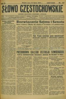 Słowo Częstochowskie : dziennik polityczny, społeczny i literacki. R.5, nr 157 (12 lipca 1935)