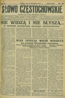 Słowo Częstochowskie : dziennik polityczny, społeczny i literacki. R.5, nr 181 (9 sierpnia 1935)