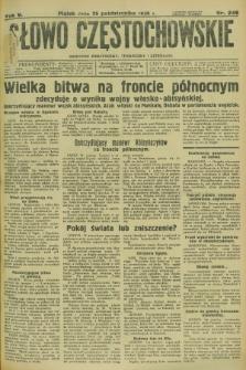 Słowo Częstochowskie : dziennik polityczny, społeczny i literacki. R.5, nr 246 (25 października 1935)