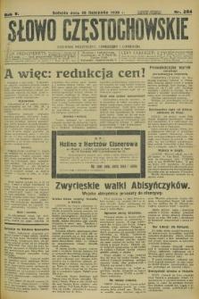 Słowo Częstochowskie : dziennik polityczny, społeczny i literacki. R.5, nr 264 (16 listopada 1935)