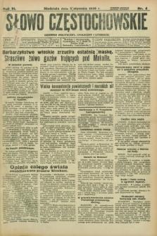 Słowo Częstochowskie : dziennik polityczny, społeczny i literacki. R.6, nr 4 (5 stycznia 1936)